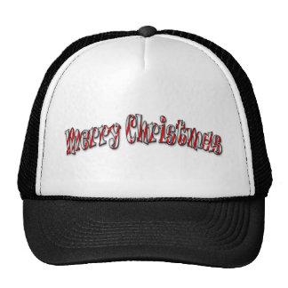 Felices Navidad - bastón de caramelo Gorros Bordados