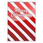 Felices Navidad - bastón del Tarjeta-Caramelo del