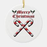 Felices Navidad - bastones de caramelo Adorno