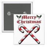 Felices Navidad - bastones de caramelo Pin
