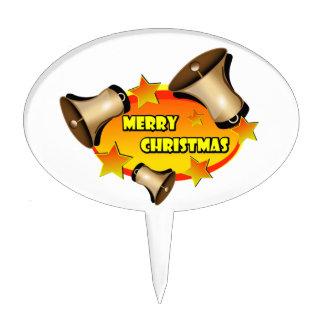 Felices Navidad Belces Figura Para Tarta