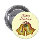 Felices Navidad Belces del botón del navidad Pin Redondo De 2 Pulgadas