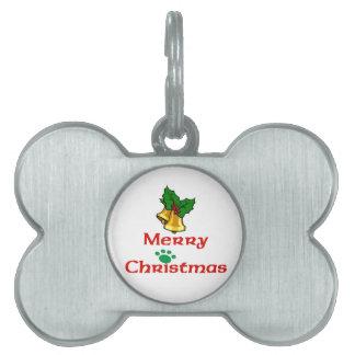 Felices Navidad Belces y pata Placas De Mascota