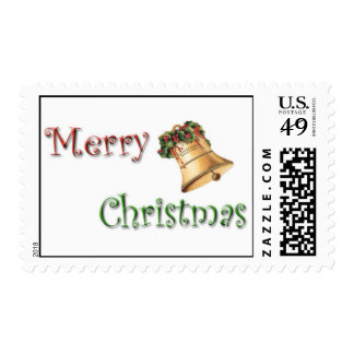 Felices Navidad Bell Timbres Postales