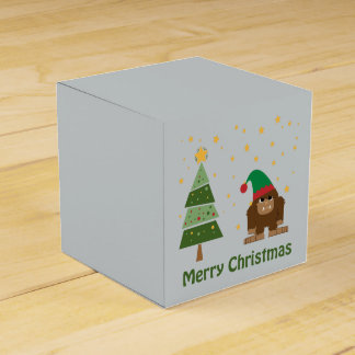Felices Navidad Bigfoot Caja Para Regalos De Fiestas