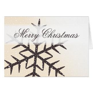 Felices Navidad blancas de la crema de la nieve de Tarjeta Pequeña