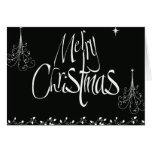 Felices Navidad blancos y negros Felicitación