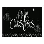 Felices Navidad blancos y negros Postales
