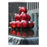 ¡Felices Navidad!  Bolas rojas Tarjetas