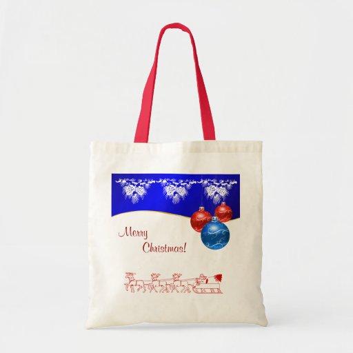 Felices Navidad Bolsa Lienzo