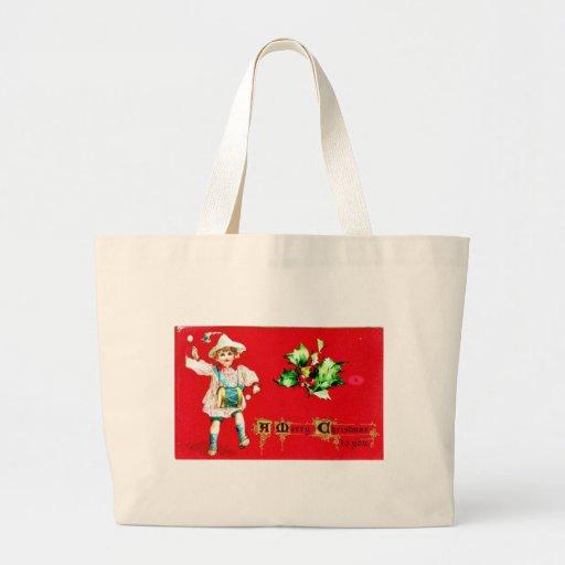 Felices Navidad Bolsa Tela Grande