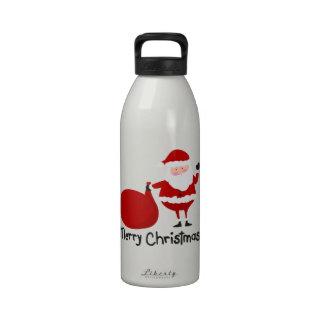 Felices Navidad Botella De Agua