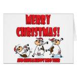 Felices Navidad Breakdancing Tarjeta
