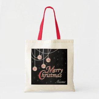 Felices Navidad brillantes Bolsa Tela Barata