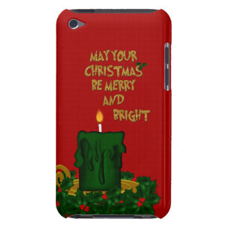 Felices Navidad brillantes vela, tacto 4g de Carcasa Para iPod
