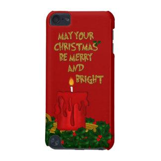 Felices Navidad brillantes vela, tacto 5g de Carcasa Para iPod Touch 5G