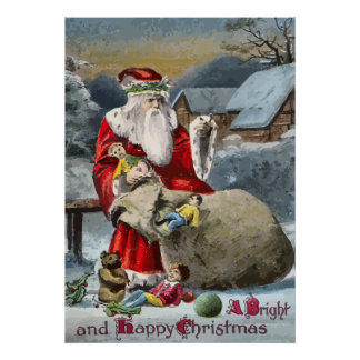 Felices Navidad brillantes y Posters