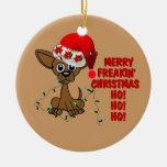 Felices Navidad Brother de Freakin Adorno Redondo De Cerámica