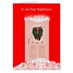Felices Navidad buenas fiestas a los vecinos Tarjetas
