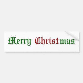 Felices Navidad Etiqueta De Parachoque