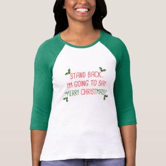 ¡Felices Navidad! Camiseta cristiana chistosa del