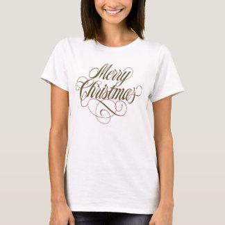 ¡Felices Navidad! Camiseta de la muñeca del chica