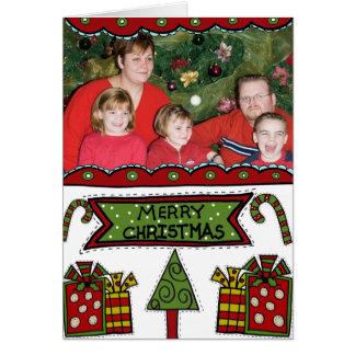 Felices Navidad caprichosas Tarjeton