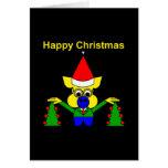 Felices Navidad - cerdo del navidad Tarjeta
