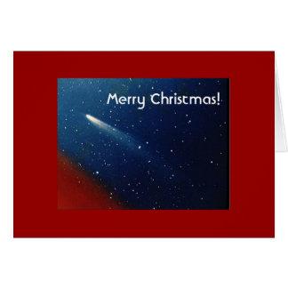 ¡Felices Navidad! Cometa Kohoutek Tarjeta De Felicitación