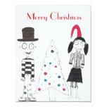 Felices Navidad con Creepies Invitaciones Personalizada