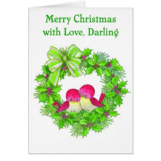Felices Navidad con el amor, querido Tarjeta De Felicitación