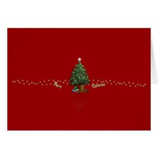 """""""Felices Navidad"""" con el árbol de navidad Tarjeta De Felicitación"""