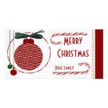 Felices Navidad con el candycane Tarjetas Fotográficas Personalizadas