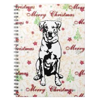 Felices Navidad con el labrador retriever Cuadernos