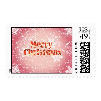 Felices Navidad con franqueo de los copos de nieve Sello Postal