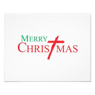 Felices Navidad con la cruz de las tarjetas del Arte Con Fotos