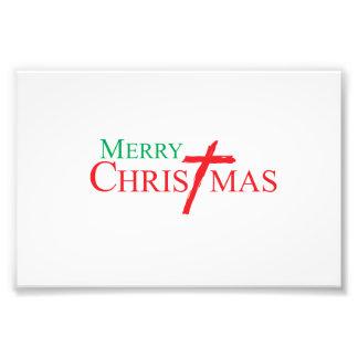 Felices Navidad con la cruz de las tarjetas del Arte Fotografico