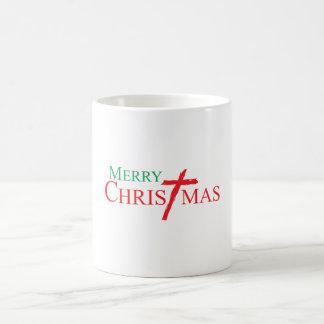 Felices Navidad con la cruz de las tarjetas del Taza Mágica
