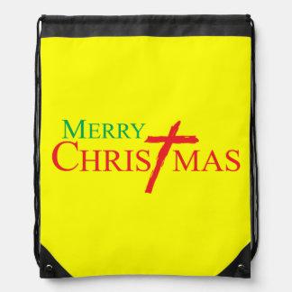 Felices Navidad con la cruz de los botones del Mochilas