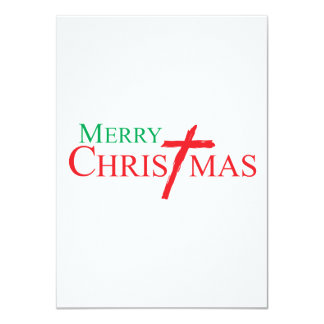 Felices Navidad con la cruz de los sellos del Invitación Personalizada