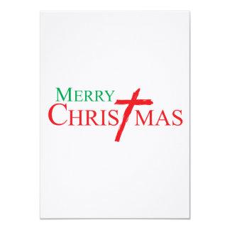 Felices Navidad con la cruz de los sellos del Anuncios