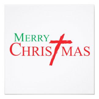 Felices Navidad con la cruz de los sellos del Invitacion Personal