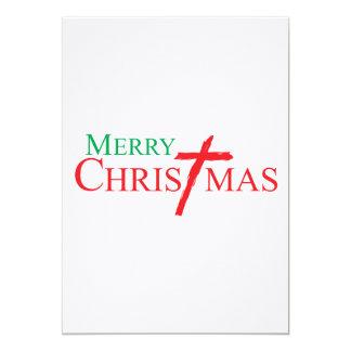 Felices Navidad con la cruz de los sellos del Comunicado Personalizado