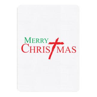 Felices Navidad con la cruz de los sellos del Comunicados Personalizados