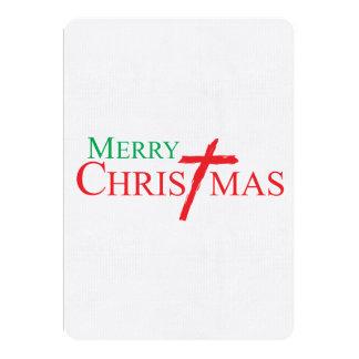 Felices Navidad con la cruz de los sellos del Invitaciones Personales