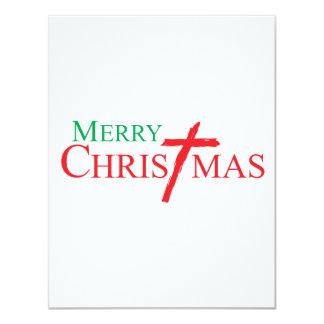 Felices Navidad con la cruz de los sellos del Invitación