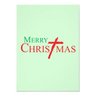 Felices Navidad con la cruz de los sellos del Anuncio