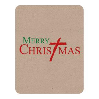Felices Navidad con la cruz de los sellos del Comunicado