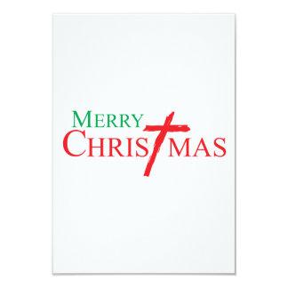 Felices Navidad con la cruz de los sellos del Invitacion Personalizada