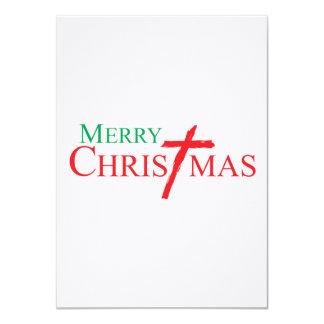 Felices Navidad con la cruz de los sellos del Invitaciones Personalizada